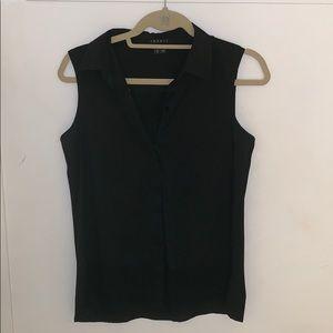 Theory sleeveless button down shirt